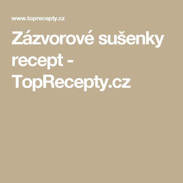 Zázvorové sušenky recept - TopRecepty.cz