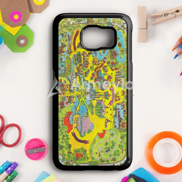 Vintage Walt Disney World Map Fantasyland 1971 Samsung Galaxy S6 Case | armeyla.com