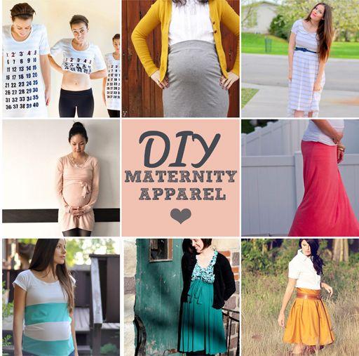 DIY Maternity Clothing #tutorials #diy