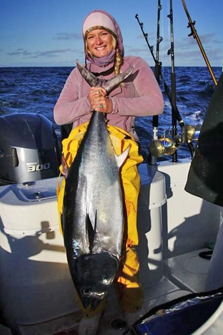 First Bluefin Our first time fishing out of east off Cape Cod, we hooked this bluefin tuna 15 minutes after we started trolling. — Phoenix ...