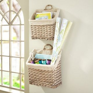 Put two baskets by the front door of your dorm room to divide your and your roommate's mail, papers, etc. into. My original idea ;)