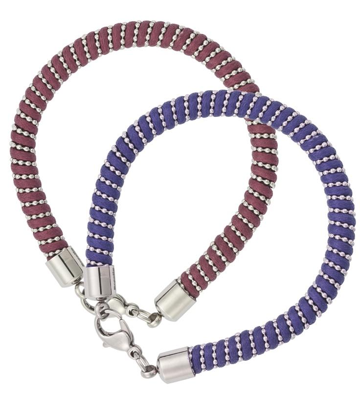 Pulsera Fashion de acero, en colores rojo y azul. 21€/ unidad. Ref.930070.  http://www.roselin.es/noticias/?p=1625
