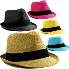 Yazlık Kovboy Hasır FÖTR Şapka Erkek Bayan