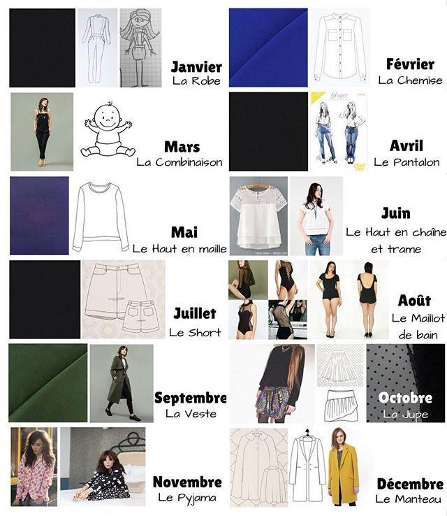Bonjour à tous et bonne année! Aujourd'hui, je partage avec vous ma liste de projets pour le défi #jecoudsmagarderobecapsule2017 organisé par @clo_piano  Retrouvez tous les details sur mon blog, qui a subi un ravalement de façade pour l'occasion! (Lien dans ma bio) Le programme changera sûrement au cours de l'année mais voici ce dont j'ai envie en ce moment: ✅ Une robe adaptée de la #combinaisoniris de @dessinemoiunpatron ✅ Une #archershirt de @grainlinestudio ✅ Une combi pour bébé ou la…
