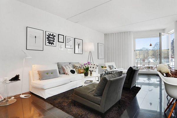 Stockholm apartament - white living