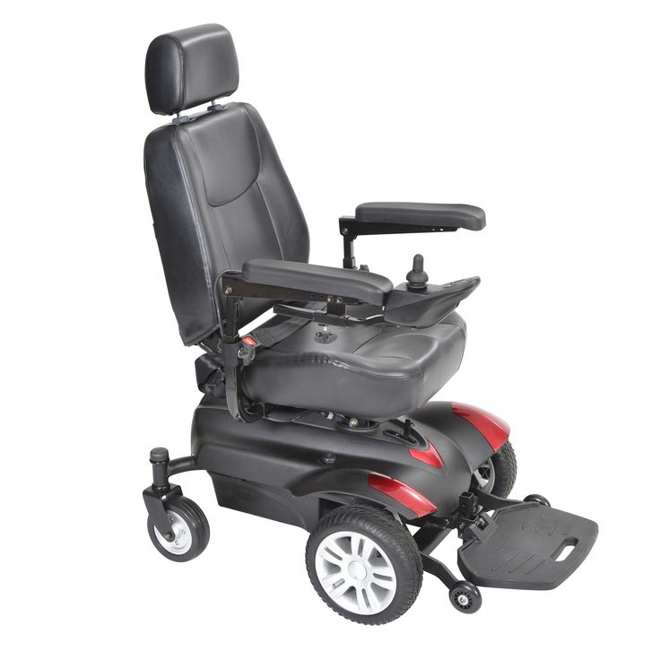 "Drive titan1618x23 Titan X23 Front Wheel Power Wheelchair, Full Back Captain's Seat, 16"" x 18"""