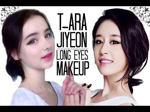 Get Long Eyes Like Jiyeon! [T-ara Member Makeup Tutorial] - YouTube