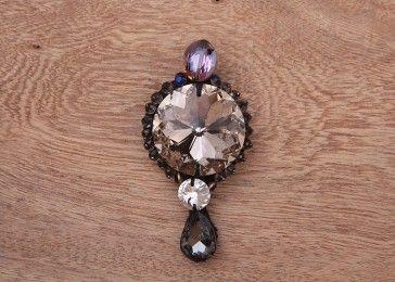 Diamond morning crystal brooch pin#shop online.