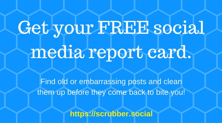 Scrubber helps you manage your online reputation and clean up your social media digital footprint. Scan your social media and get a report for free.