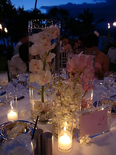 Submerged flower centerpieces gorgeous if you don t want