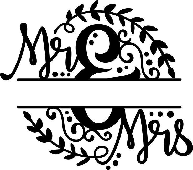Wedding Mr /& Mrs Lacey paper cutting template SVG PNG PDF