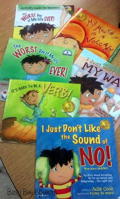 Busy Bee Speech: Helpful Books by Julia Cook-great books for developing children's speech and language. Pinned by SOS Inc. Resources. Follow all our boards at pinterest.com/sostherapy for therapy resources.