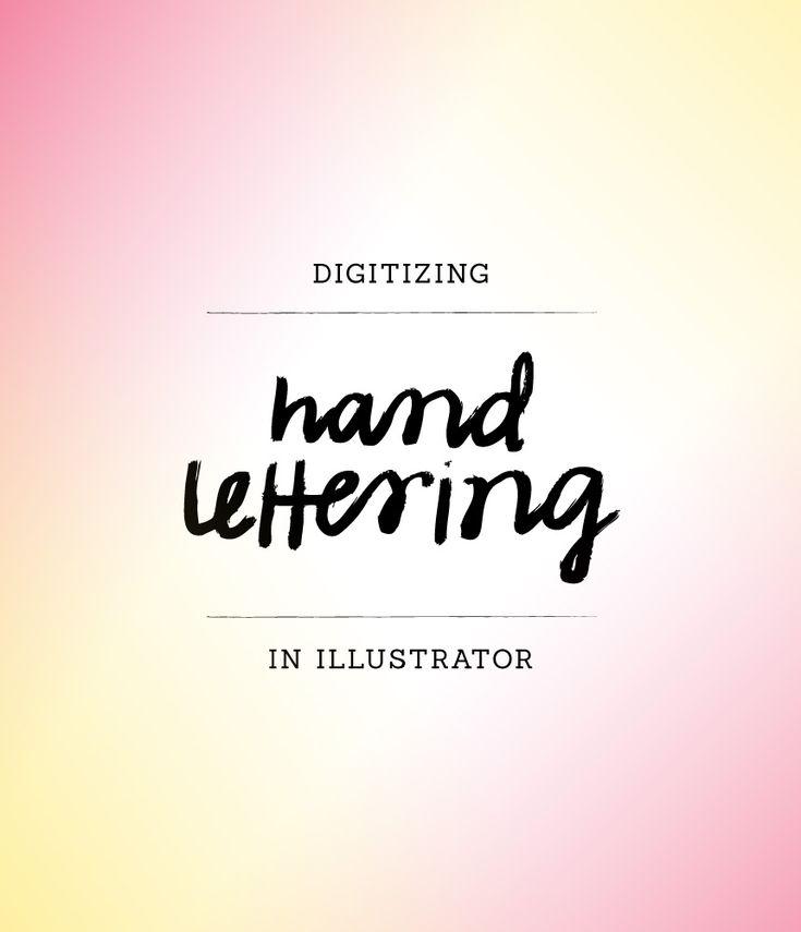 workspace wednesday | digitizing hand lettering.