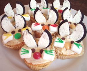 Easter bunny cupcakes with recipe