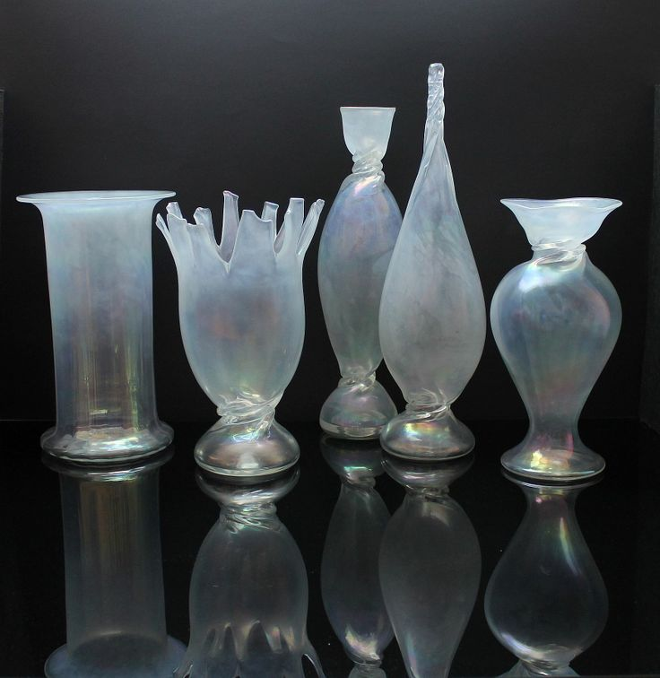 """Franz Prati fünf Vasen """"Paestum, Sospiro & Bonbons"""" Pauly & Cia. C.V.M. , Murano. For more information: http://tillipan.com"""