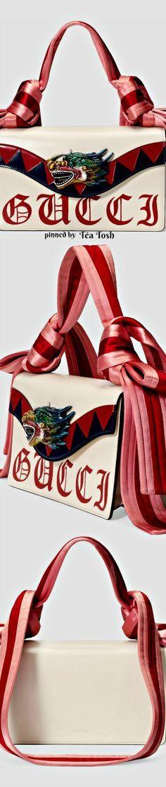 ❇Téa Tosh❇ Gucci, Naga Dragon, leather shoulder bag