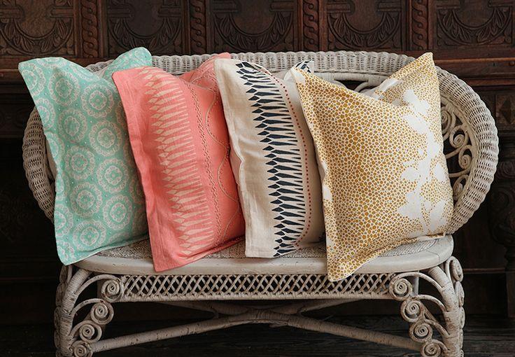 Design Sponge Throw Pillows : Kathryn Maresca Textiles Garden & Gun G&G Style Pinterest Pillows