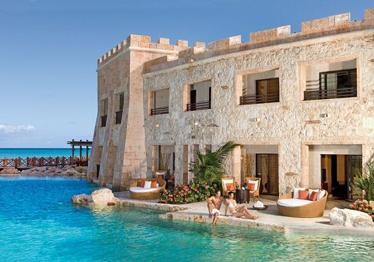 Castle-themed suites at Secrets Sanctuary Cap Cana, including swim-up rooms. Get the royal treatment with this magical Honeymoon experience!