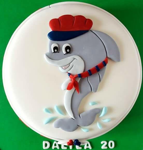 #torta #cakedesign #festa #compleanno #italia #birthday #foophotography #home #homedecor #delfino #rossoblu #cake #cioccolato