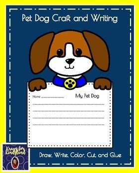 Pet Dog Craft And Writing Page 1 Cover 2 Krazy For Kindyland Note 3 Product Details Example 4 Paper Copy Per Student On