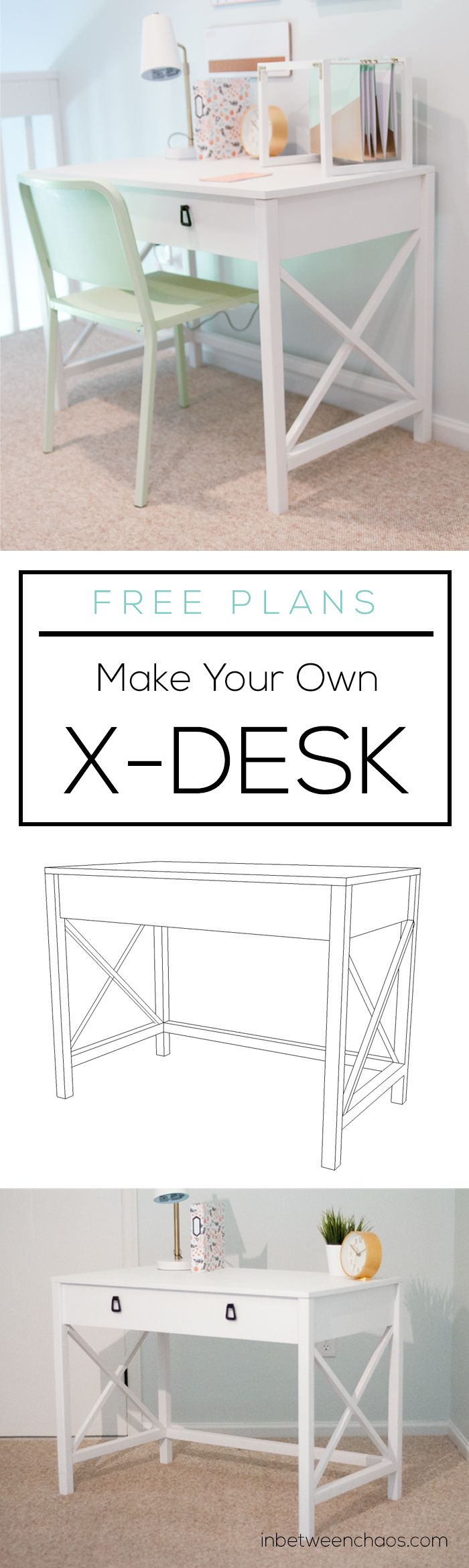 X Desk Plans | inbetweenchaos.com