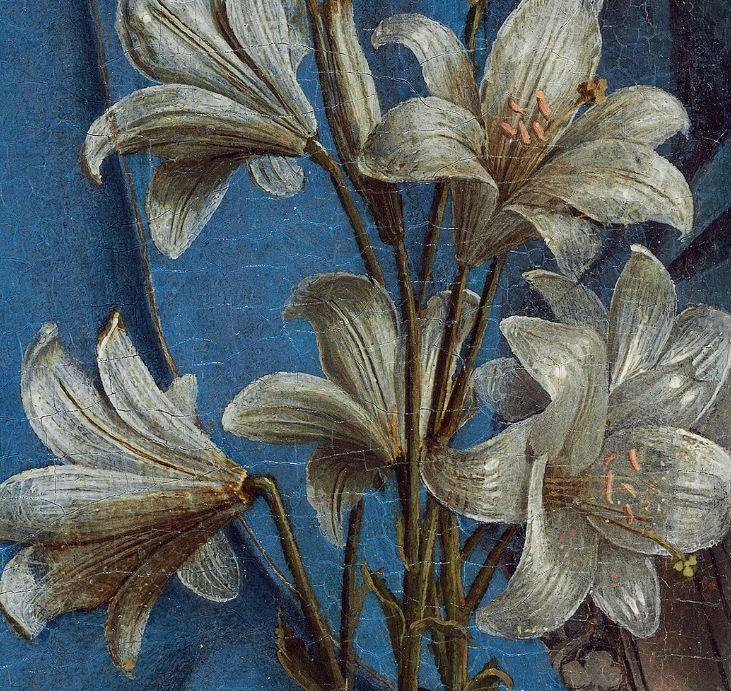 Detail from Jan Van Eyck's Annuncation, c. 1434-1436