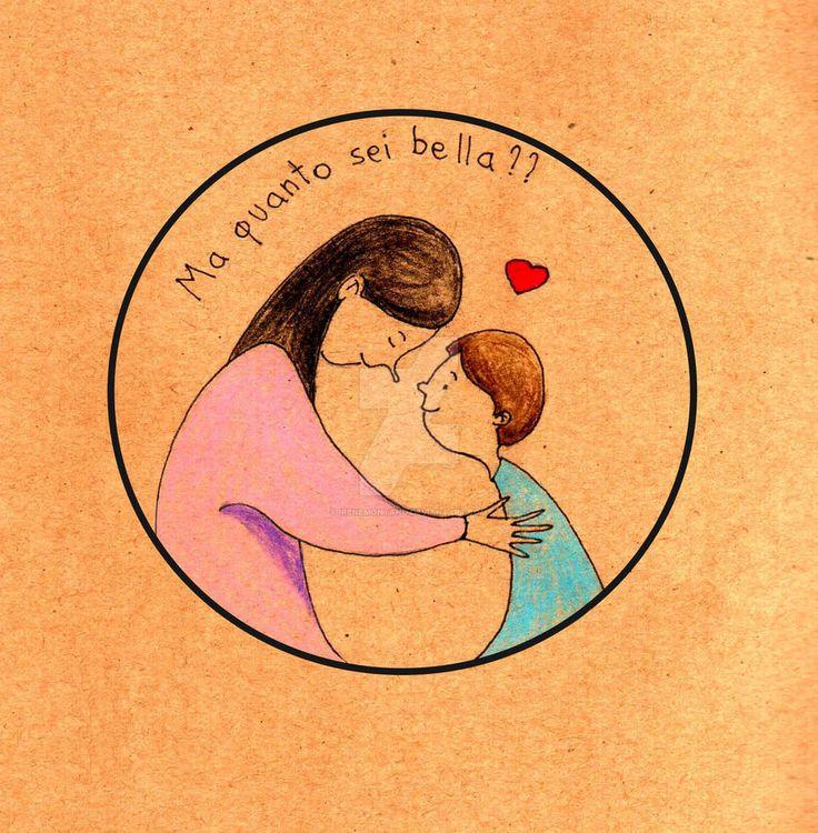 Festa della mamma by IreneMontano #illustration #love #happymothersday