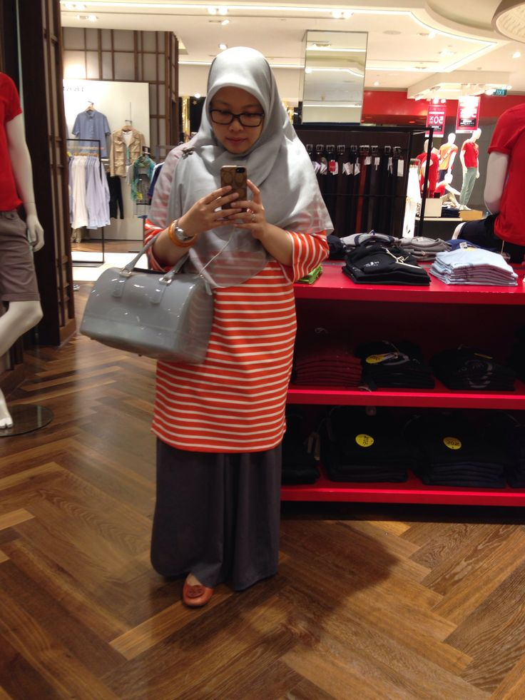 Grey with touch of Orange  my Furla Candy bag
