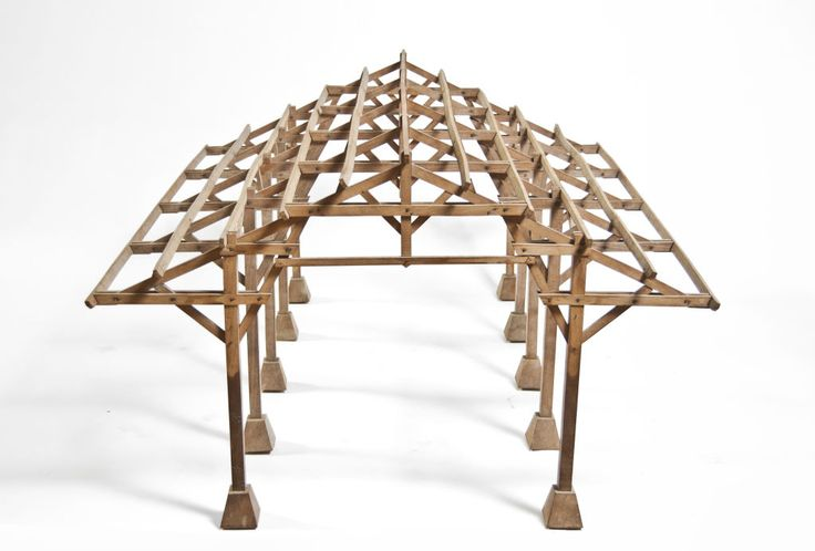 Structural modelling - Architectural model of a vaulted ceiling.