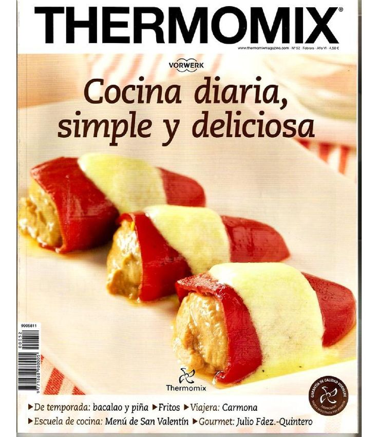 Rev. Thermomix nº 52. Cocina diaria, simple y deliciosa