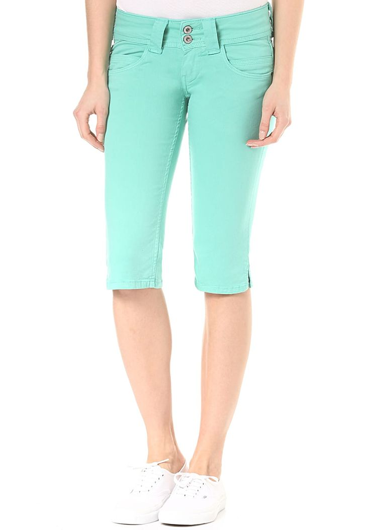 Pepe Jeans Venus Crop Shorts für Damen Grün
