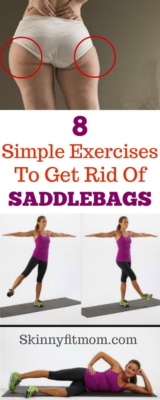 8 Simple exercises to get rid of saddlebags! Feel the burn with this intense workout! These explosive exercises will shape up your bum and melt that saddlebags fat away fast in no time! #saddlebags #exercise