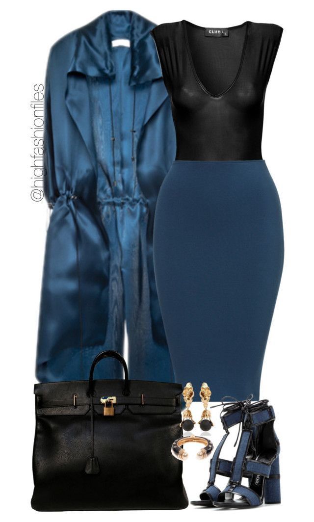 """""""Untitled #1961"""" by highfashionfiles ❤ liked on Polyvore featuring Lucas Nascimento, Hermès, Alessandra Di Tommaso, Amrita Singh and Tom Ford"""
