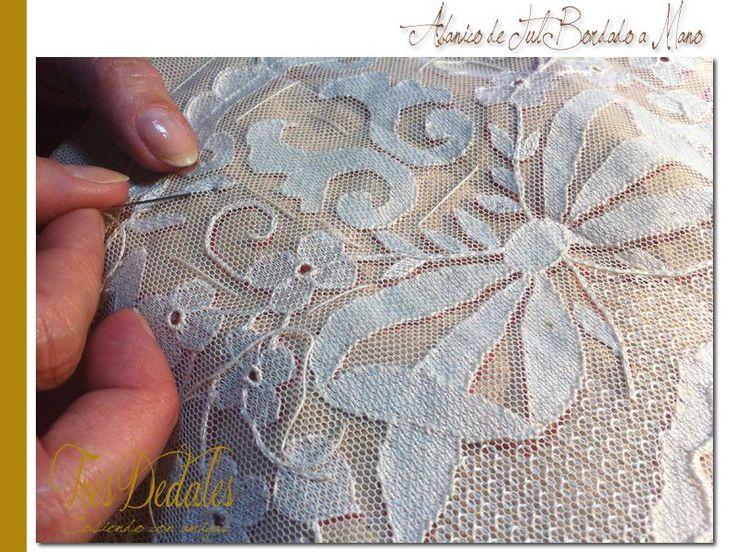 Manta de bordado vintage paragon