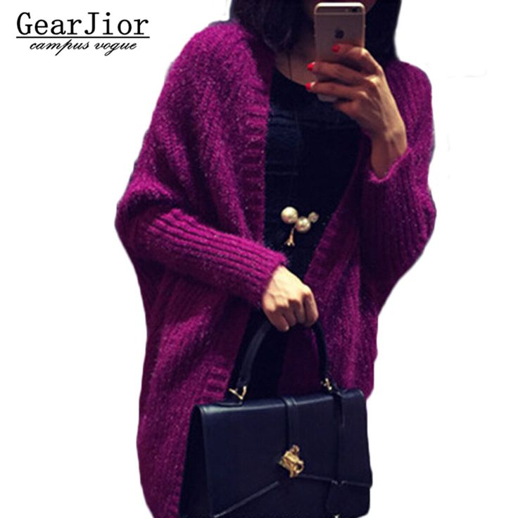 2017 new women's solid wild knitted sweaters women batwing sleeve cardigans female Thicken Shawl knitted waistcoat 4colors #Affiliate