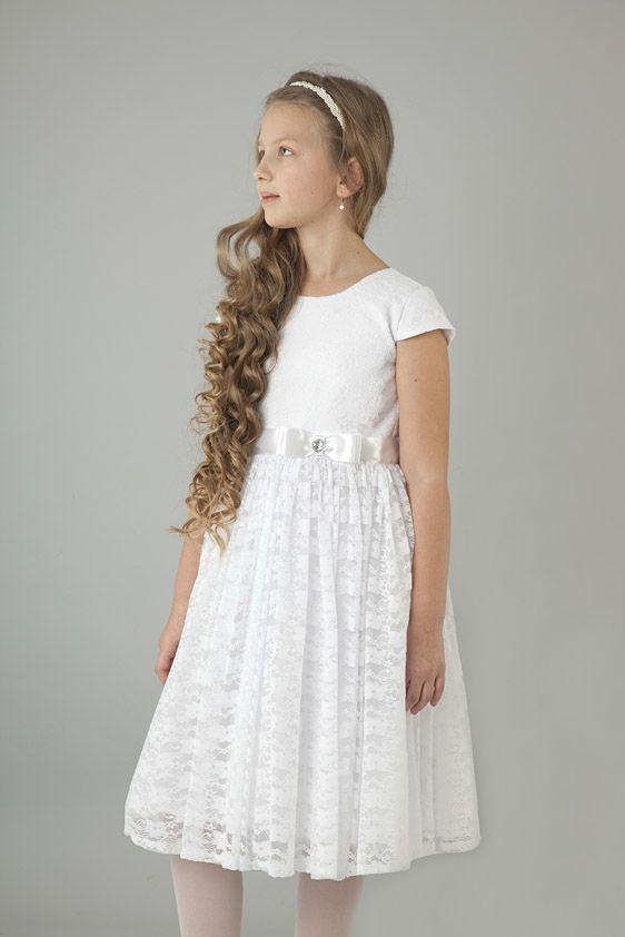 cab82dbf Sukienka na Pierwszą Komunię Świętą 122-158 S06 biała | Sukienki ...