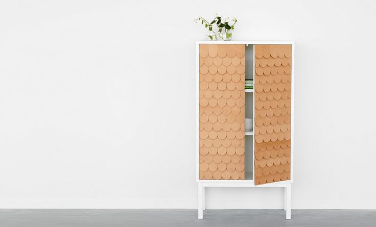 Sarah Larsson leather shingled furniture