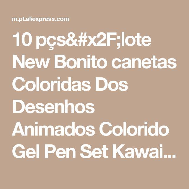 10 pçs/lote New Bonito canetas Coloridas Dos Desenhos Animados Colorido Gel Pen Set Kawaii Papelaria Coreano Presente Criativo Material Escolar canetas 04035 Loja Online | aliexpress móvel