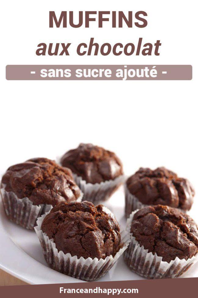 Muffin aux chocolat sans sucre ajouté : recette Croq'kilos !