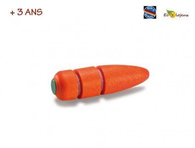 Dinette bois Carotte à couper : un vrai plaisir pour les enfants que de pouvoir découper cette belle carotte. https://www.ecolojeux.com/dinette-fruits-legumes-bois-marchande/499-dinette-bois-carotte-a-couper-.html