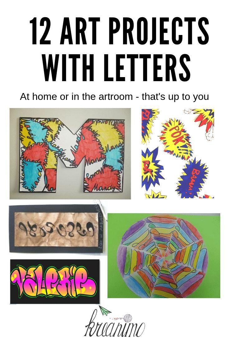 Lol Met Letters 12 Ideeen Om Met Kinderen Creatief Te Zijn Met Letters Elementaire Kunst Kunstlessen Tekenlessenplannen