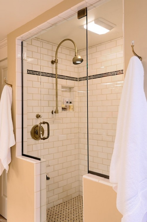 Classic modern shower Bathroom decor tiles edgewater wa