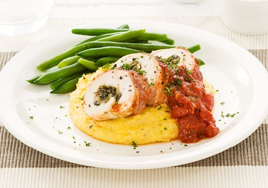Bacon Wrapped Chicken with Italian Sauce