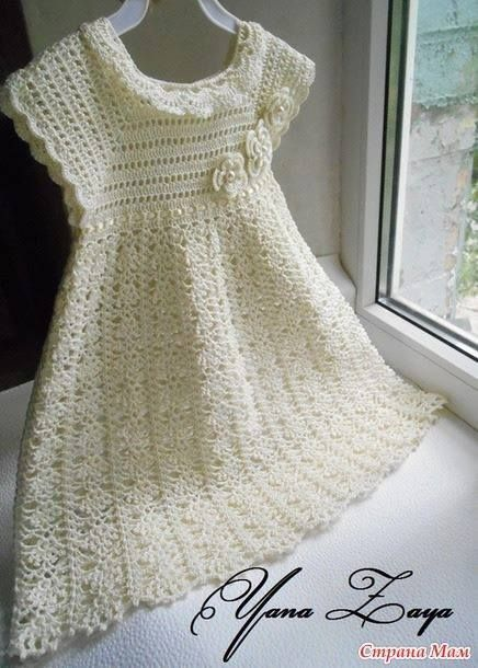 Crochet Baptism Dress pattern. More Great Looks Like This