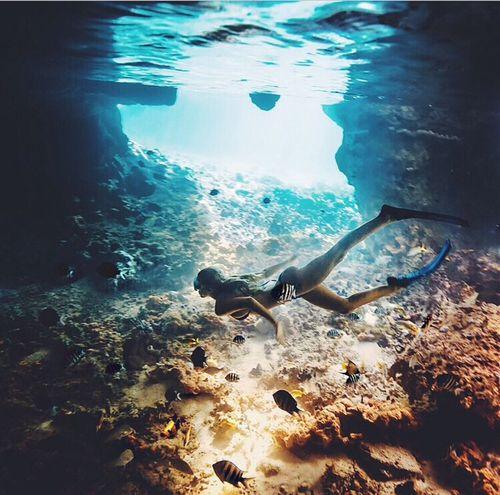 Diving-Swimming-Snorkeling-Ocean-Sea-Girl-Summer-Shiwi