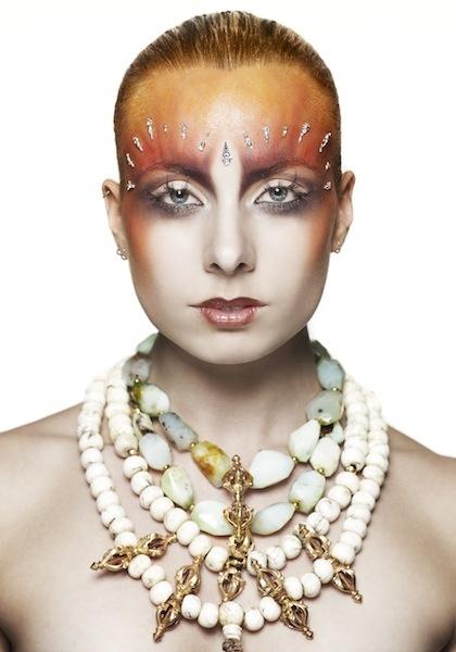 Editorial Necklaces by Black Dakini.  Make up Simon Rihana