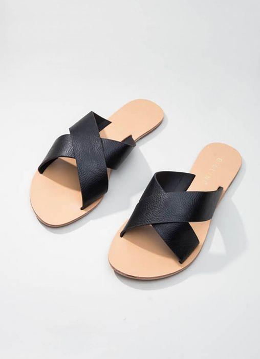 Majorca Sandal - Black Pebble