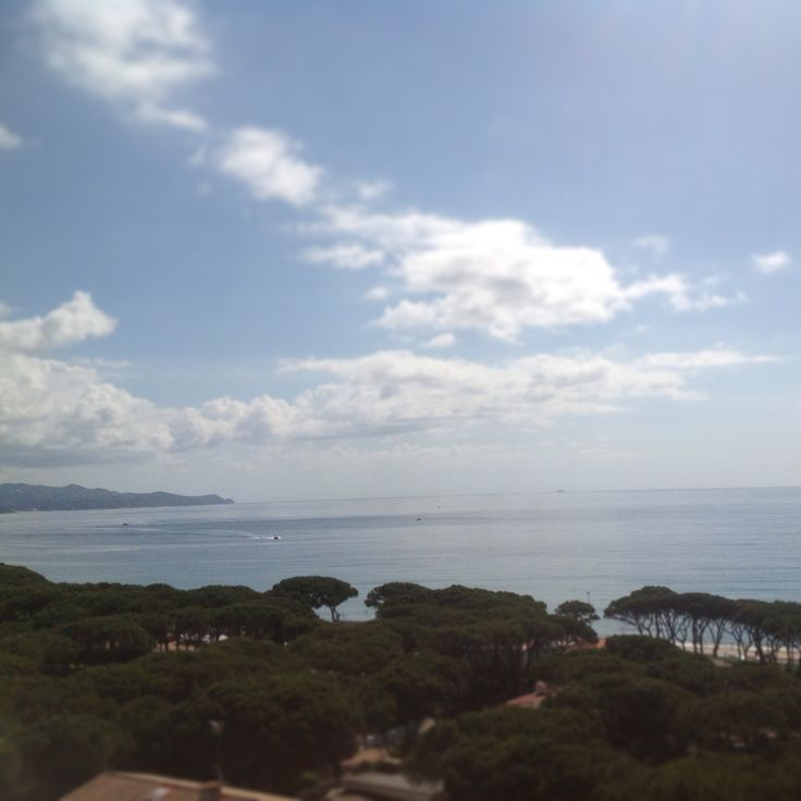 View from #hotel #Blaumar #spain #costa #brava #blanes #sea #sky #travel #trip #places