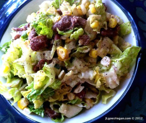 Chopped Salad with Cashew Chipotle Dressing