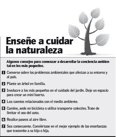Enseñe a cuidar la naturaleza
